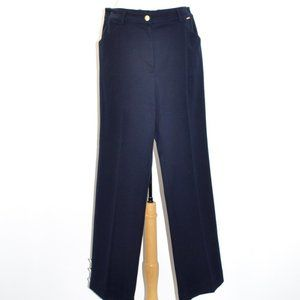 ST. JOHN SPORT NAVY BLUE NAUTICAL PANT SIZE 10